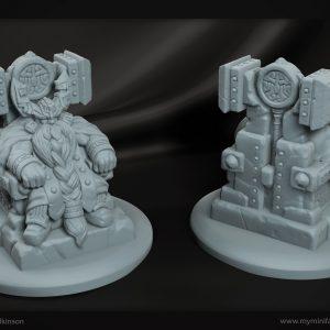 3D printed dwarven king