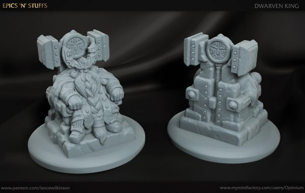 3D printed dwarven king