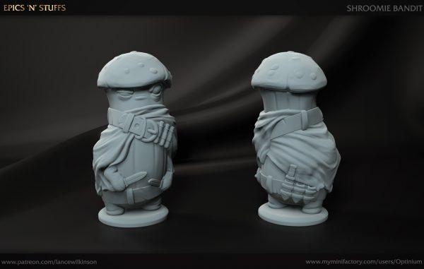 3D printed shroomie bandit